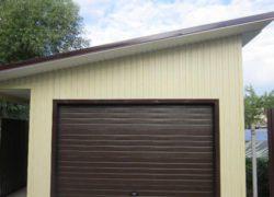 Строительство односкатной крыши для гаража