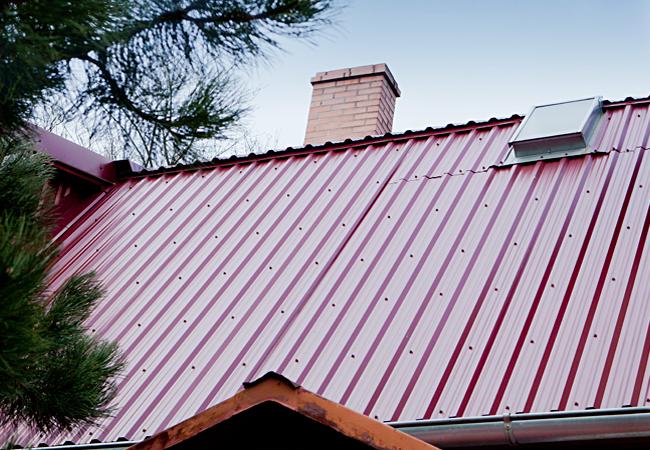 Крыша с покрытием