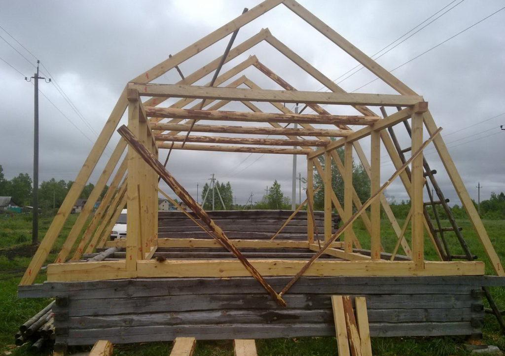 Как сделать крышу дома своими руками ломаная крыша 86