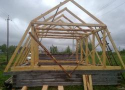 Расчет и монтаж стропильной системы ломаной крыши