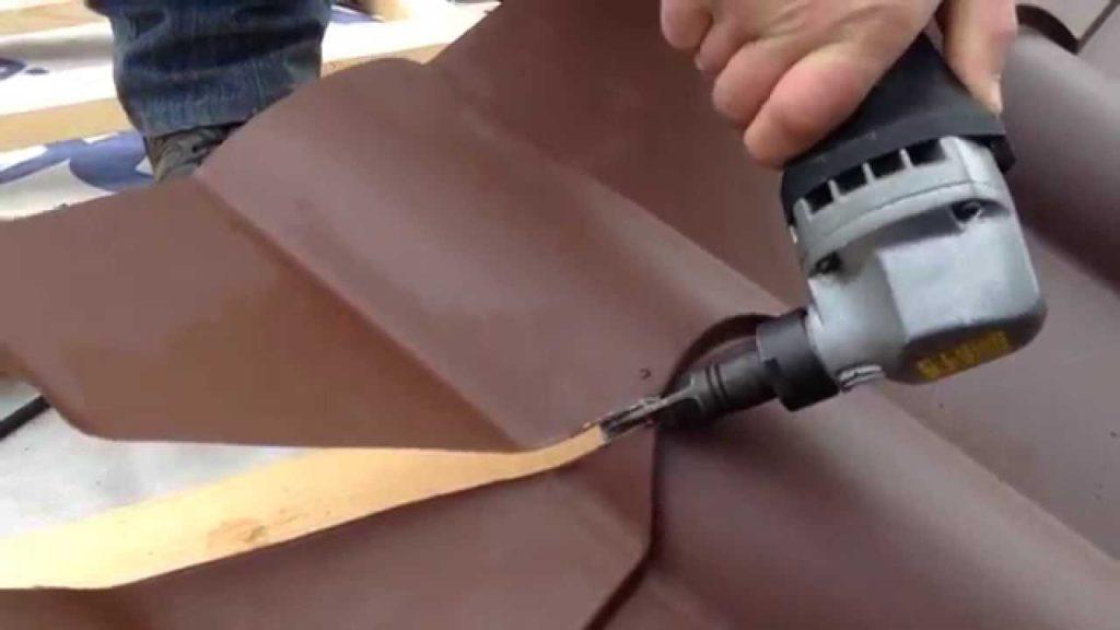Резка ножницами по металлу