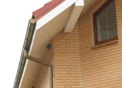Установка и монтаж софитов на карниз крыши