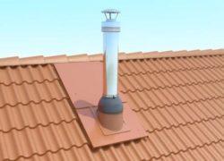 Технология вывода трубы через крышу из профнастила