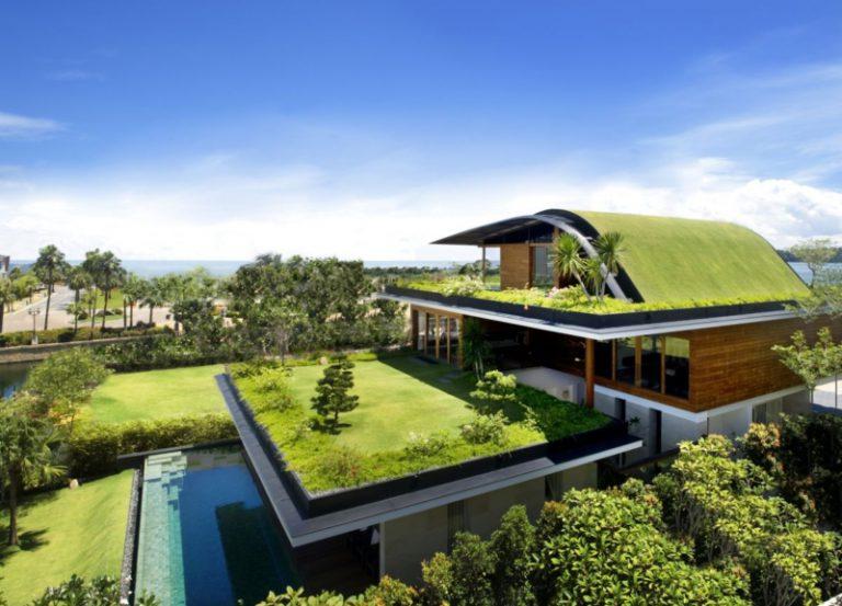 Оформление крыши-сада
