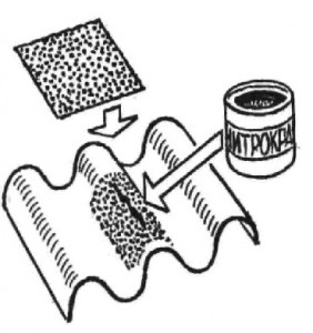 Нитрокраска и ткань